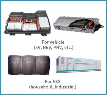 Large size lithium-ion batteries