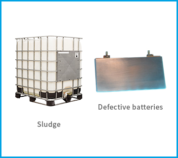 Other defective materials in battery manufacturing process